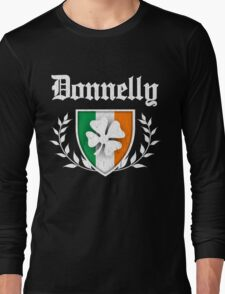 Donnelly Family Shamrock Crest (vintage distressed) Long Sleeve T-Shirt