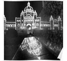 Parliament Paradox - Square B&W Poster