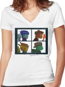 Starterz - Pokemon-Days Women's Fitted V-Neck T-Shirt