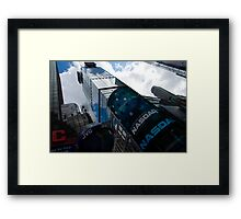 Neon Lights and Ads - Times Square, Manhattan, New York City, USA Framed Print