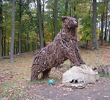 BEAR MADE FROM TWIGS by placesthings