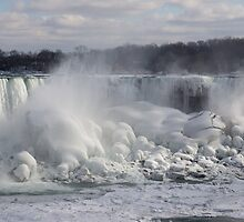 Niagara Falls Spectacular Ice Buildup - American Falls, New York State, USA by Georgia Mizuleva
