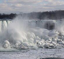 Niagara Falls Spectacular Ice Buildup - American Falls, New York State, USA by Georgia Mizuleva