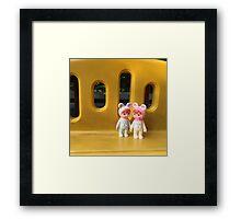 Woodland doll friends Framed Print