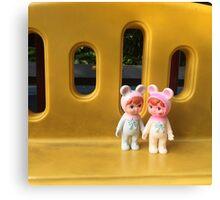 Woodland doll friends Canvas Print