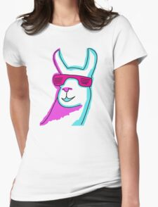 Cool Llama Womens Fitted T-Shirt