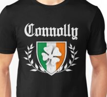 Connolly Family Shamrock Crest (vintage distressed) Unisex T-Shirt