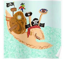 Snail Pirate Magrid And Silly Sally Parrot Poster