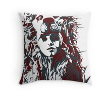 negative space war Throw Pillow