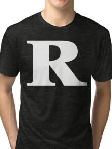 Rated R White Ink Tri-blend T-Shirt