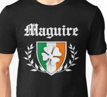 Maguire Family Shamrock Crest (vintage distressed) Unisex T-Shirt