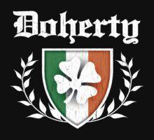Doherty Family Shamrock Crest (vintage distressed) Kids Clothes