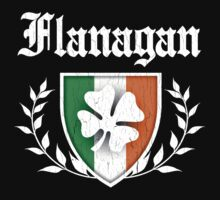 Flanagan Family Shamrock Crest (vintage distressed) One Piece - Short Sleeve