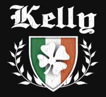 Kelly Family Shamrock Crest (vintage distressed) by robotface