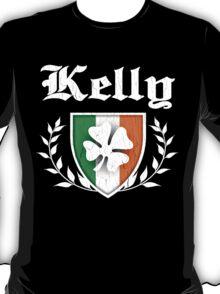 Kelly Family Shamrock Crest (vintage distressed) T-Shirt
