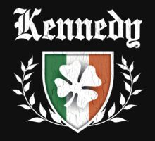 Kennedy Family Shamrock Crest (vintage distressed) One Piece - Long Sleeve