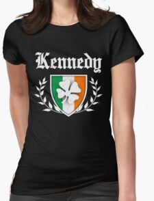 Kennedy Family Shamrock Crest (vintage distressed) Womens Fitted T-Shirt