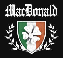 MacDonald Family Shamrock Crest (vintage distressed) by robotface