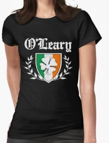 O'Leary Family Shamrock Crest (vintage distressed) Womens Fitted T-Shirt