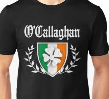 O'Callaghan Family Shamrock Crest (vintage distressed) Unisex T-Shirt