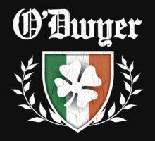O'Dwyer Family Shamrock Crest (vintage distressed) Kids Tee