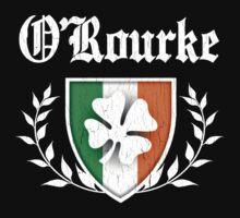 O'Rourke Family Shamrock Crest (vintage distressed) Kids Tee