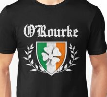 O'Rourke Family Shamrock Crest (vintage distressed) Unisex T-Shirt
