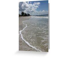 Walk Along The Beach Greeting Card