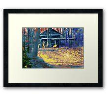 Sunset Shack Framed Print