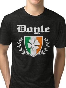 Doyle Family Shamrock Crest (vintage distressed) Tri-blend T-Shirt