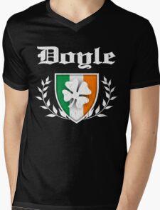Doyle Family Shamrock Crest (vintage distressed) Mens V-Neck T-Shirt
