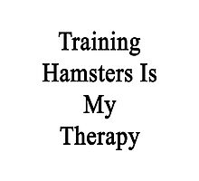 Training Hamsters Is My Therapy  Photographic Print