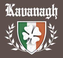Kavanagh Family Shamrock Crest (vintage distressed) Kids Clothes