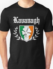 Kavanagh Family Shamrock Crest (vintage distressed) T-Shirt