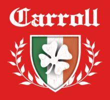 Carroll Family Shamrock Crest (vintage distressed) Kids Clothes