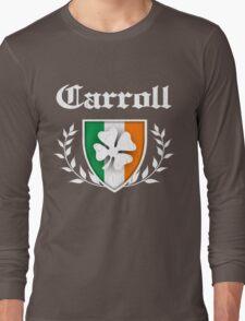 Carroll Family Shamrock Crest (vintage distressed) Long Sleeve T-Shirt