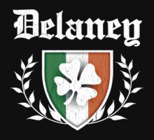 Delaney Family Shamrock Crest (vintage distressed) Kids Clothes