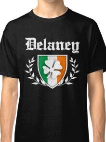 Delaney Family Shamrock Crest (vintage distressed) Classic T-Shirt