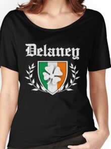 Delaney Family Shamrock Crest (vintage distressed) Women's Relaxed Fit T-Shirt