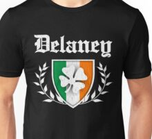 Delaney Family Shamrock Crest (vintage distressed) Unisex T-Shirt