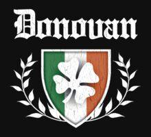 Donovan Family Shamrock Crest (vintage distressed) Kids Clothes