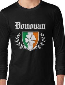 Donovan Family Shamrock Crest (vintage distressed) Long Sleeve T-Shirt