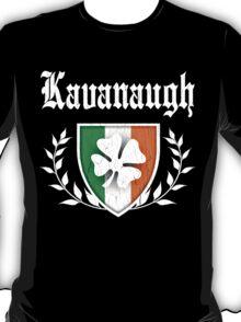 Kavanaugh Family Shamrock Crest (vintage distressed) T-Shirt