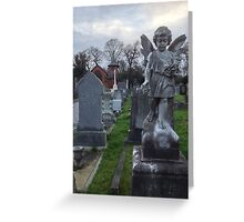 Victorian Cemetery Angel Greeting Card