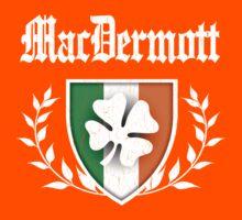 MacDermott Family Shamrock Crest (vintage distressed) Kids Tee