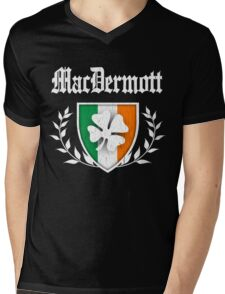 MacDermott Family Shamrock Crest (vintage distressed) Mens V-Neck T-Shirt