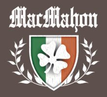 MacMahon Family Shamrock Crest (vintage distressed) One Piece - Short Sleeve