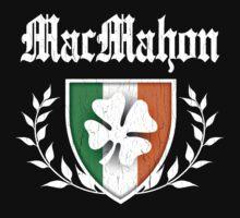 MacMahon Family Shamrock Crest (vintage distressed) Kids Clothes