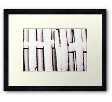 Cold Fence Framed Print