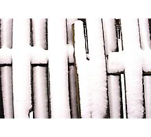 Cold Fence Photographic Print